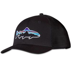 Patagonia Fitz Roy Trout Trucker Hat Black LikeNew